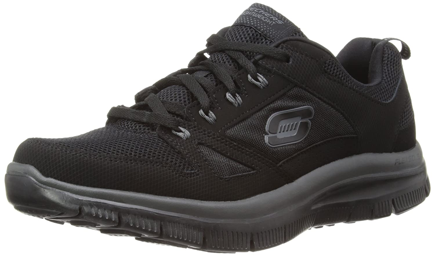 Skechers Sport Men's Flex Advantage Memory Foam Training Shoe B00I38QZPK 8.5 D(M) US|Black