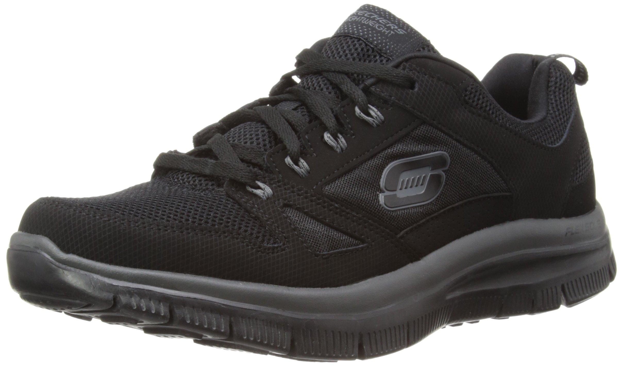 Skechers Men's Flex Advantage Memory Foam Training Shoe,Black,11 M US