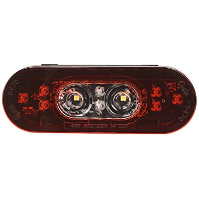 "Grote 54672 6"" Oval LED Stop Tail Turn Light with Integrated Back-up (Male Pin Termination): Automotive"