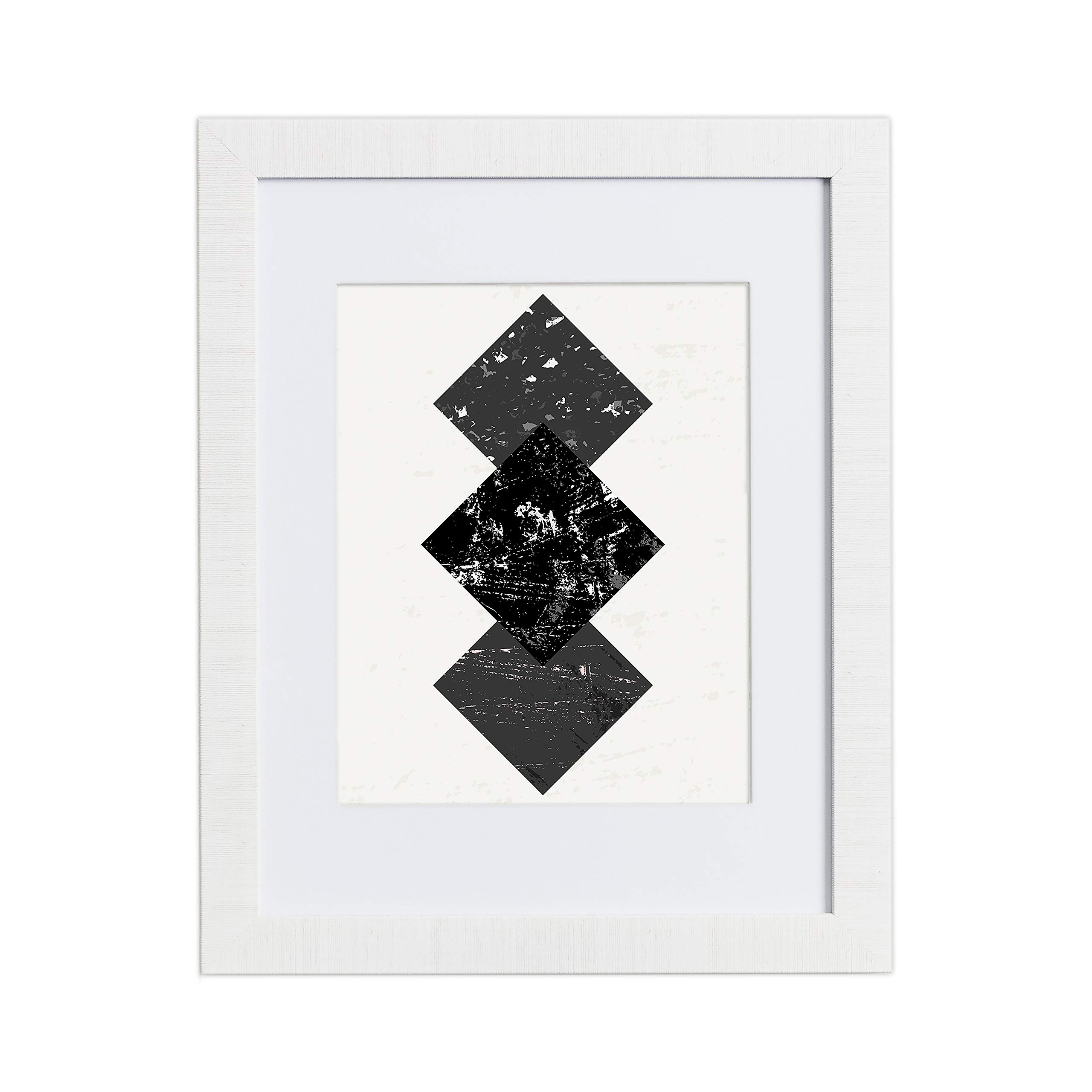 16x20 Picture Frame Modern White Matted For 11x14 Frames By