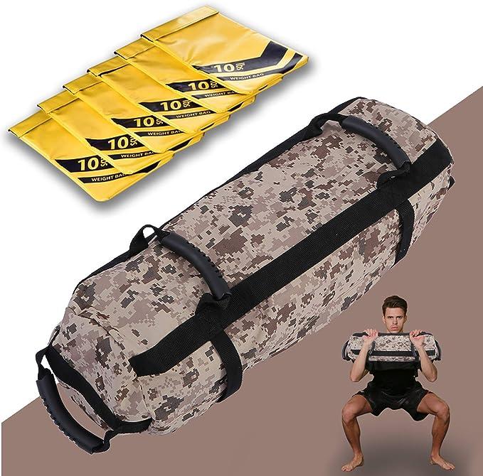 Military Heavy Power Sand Workout Sandbag Gym Bag Exercise Training MMA Weight
