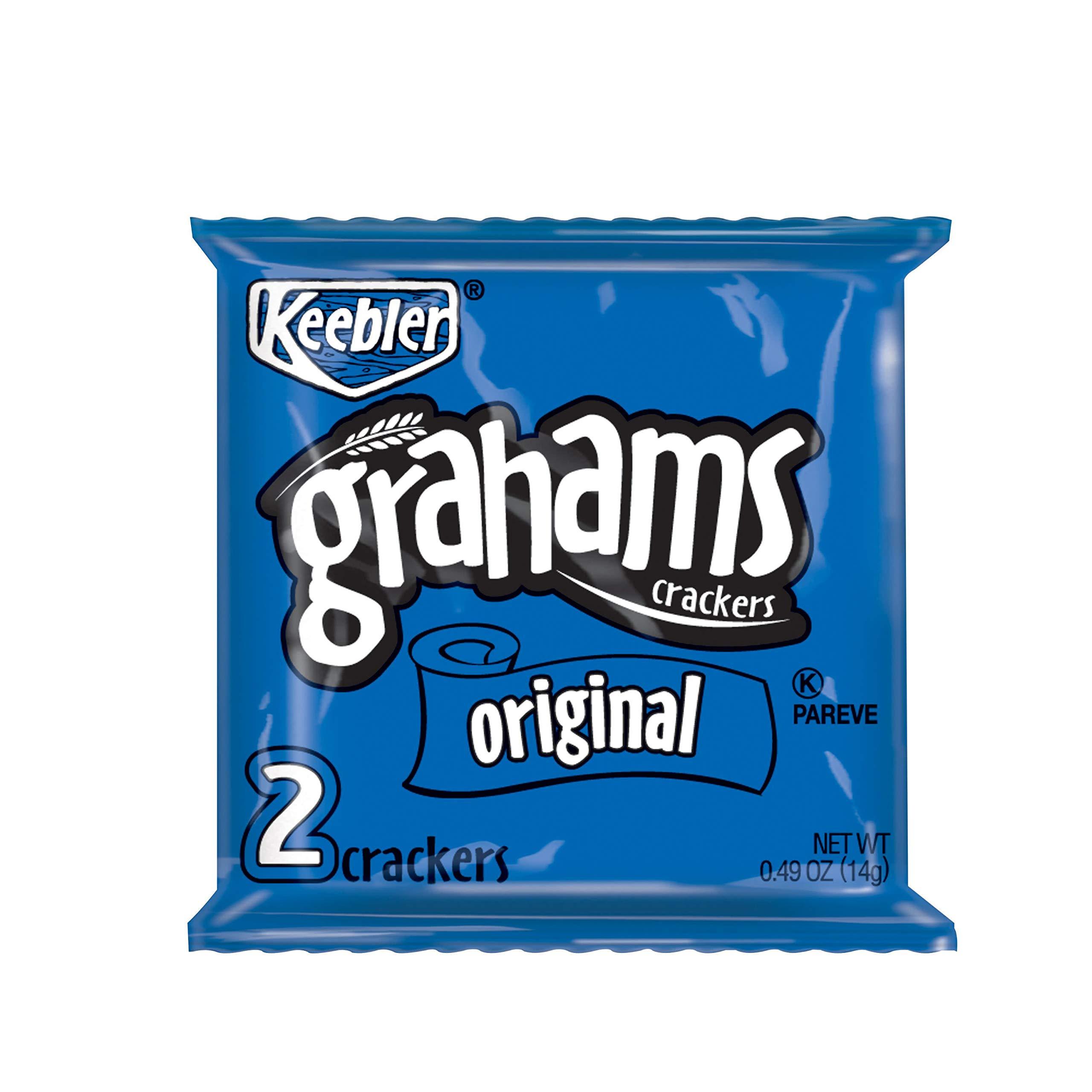 Keebler Grahams Crackers, Original, 0.49 oz Pouch(Pack of 200)