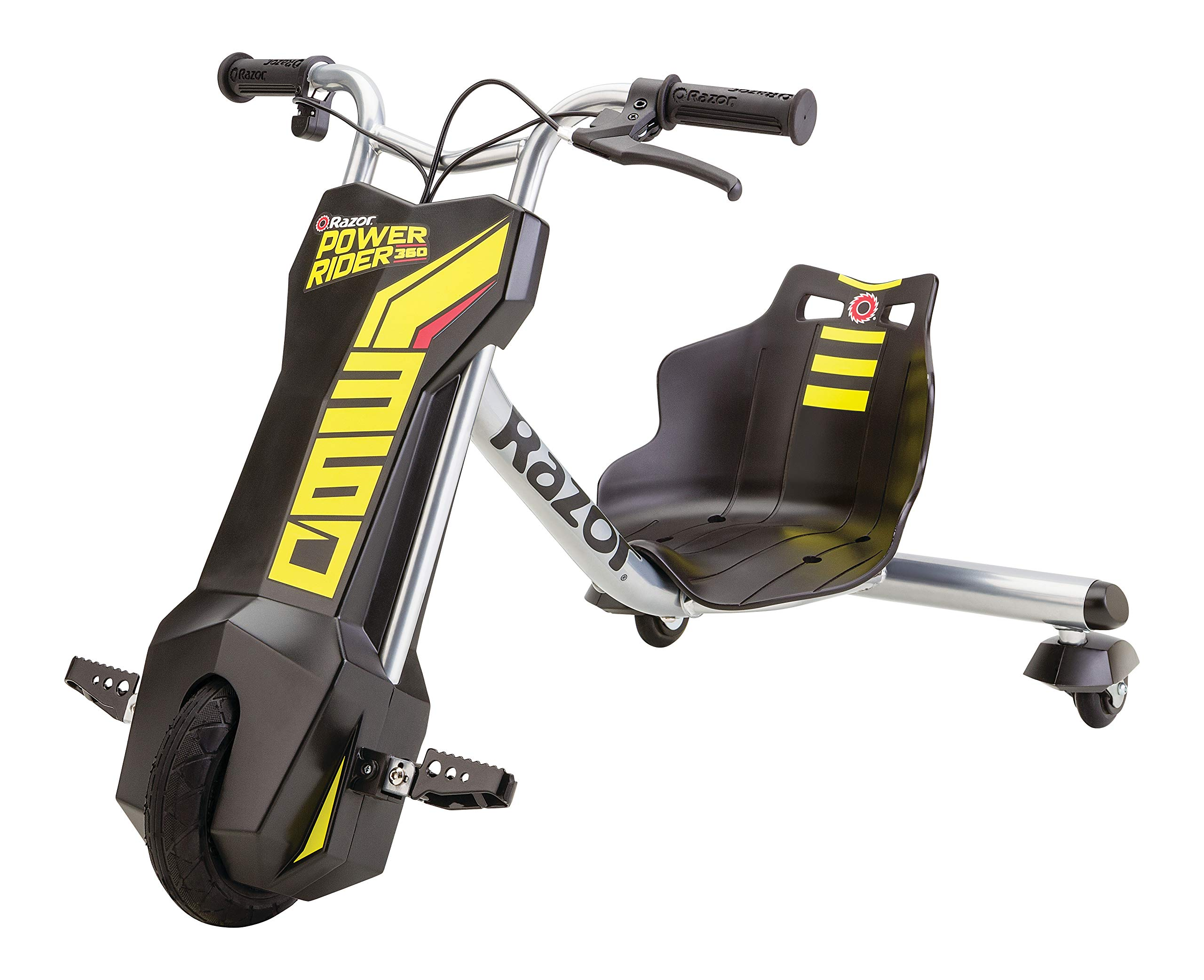 Razor Power Rider 360 Electric Tricycle Black, Yellow, 12 Volt