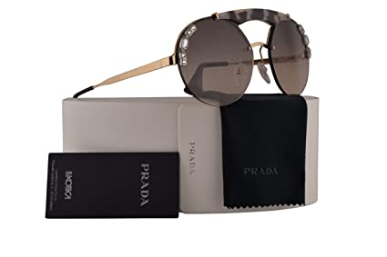 57a2186d084 Image Unavailable. Image not available for. Color  Prada PR52US Sunglasses  Gold Opal Spotted Brown w Light Brown Gradient Light Grey ...