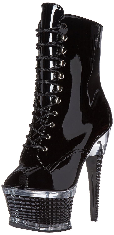 Pleaser Women's Illu1021/b/m Boot B01ABTBQYS 6 B(M) US|Black Patent/Black