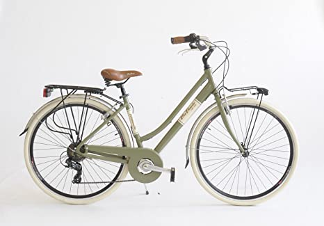 Bicicletta 615a Donna Made In Italy Via Veneto Verde Oasi Amazon