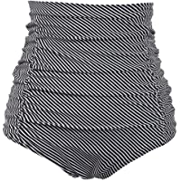 aac0bd472ce COCOPEAR Women's Ruched High Waisted Bikini Bottom Retro Vintage Swim Short  Tankinis (FBA)