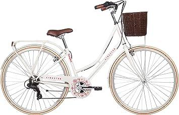 Kingston Hampton - Bicicleta de ciudad para mujer, color crema ...