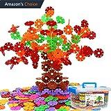 Kinder Spielzeug, Lernspielzeug Bausteine, Schneeflocken Set, Interlocking Ungiftig Kunststoff 500 Stücke Mehrfarbige für Kinder