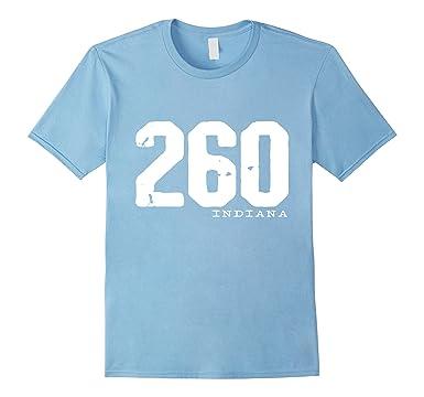 Amazoncom Indiana Area Code Shirt Pride Clothing - 260 area code