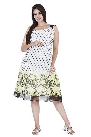 1e32672e2b18a White polka print Maternity western dress / Maternity clothes / Maternity  wear / Maternity dress-