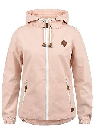 BlendShe Bibi Parka De Entretiempo Abrigo Chaqueta para Mujer con Capucha De 100% algodón: Amazon.es: Ropa y accesorios