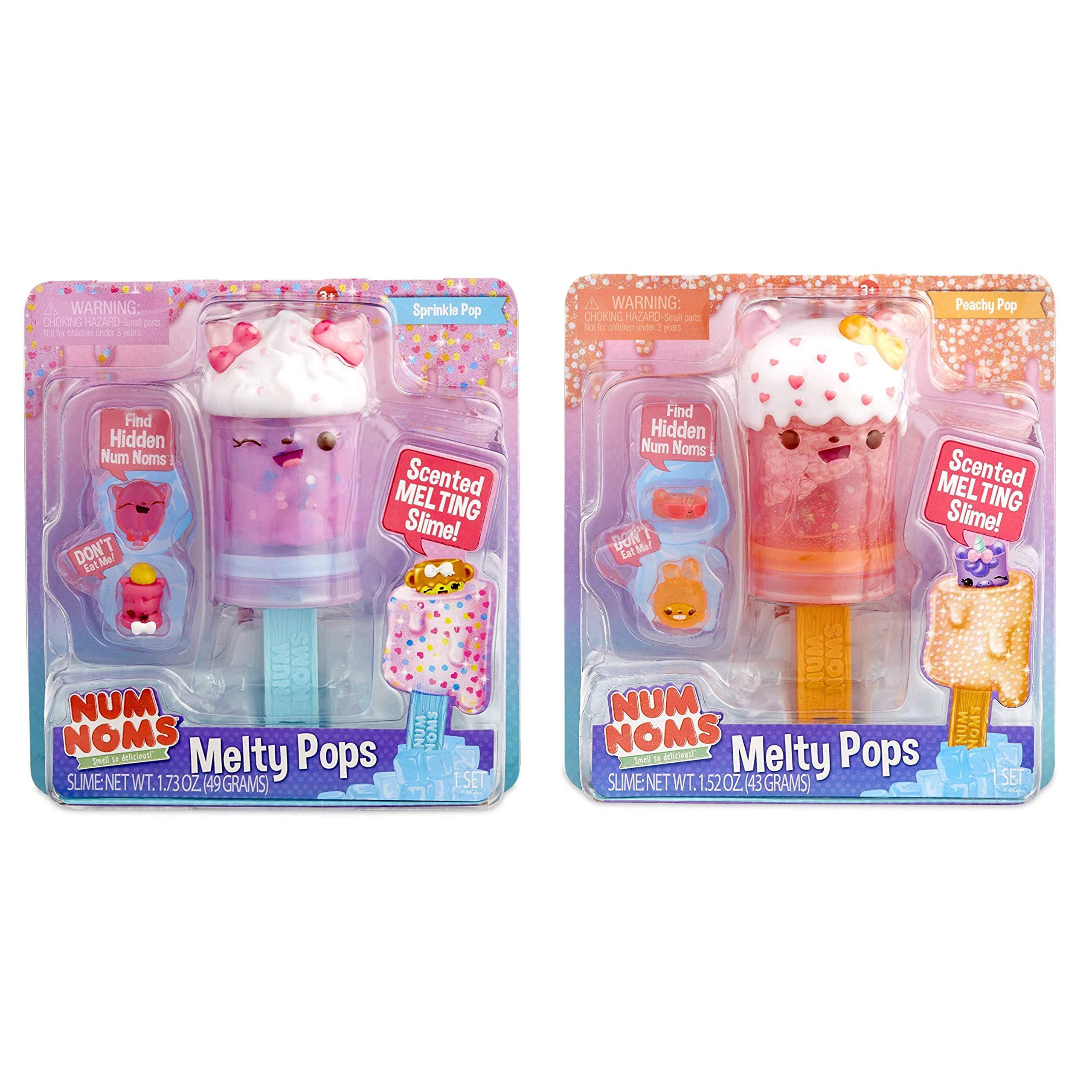 Num Noms Snackables Melty Pops- Peachy Pop and Sprinkler Pop Bundle by Num Noms (Image #1)