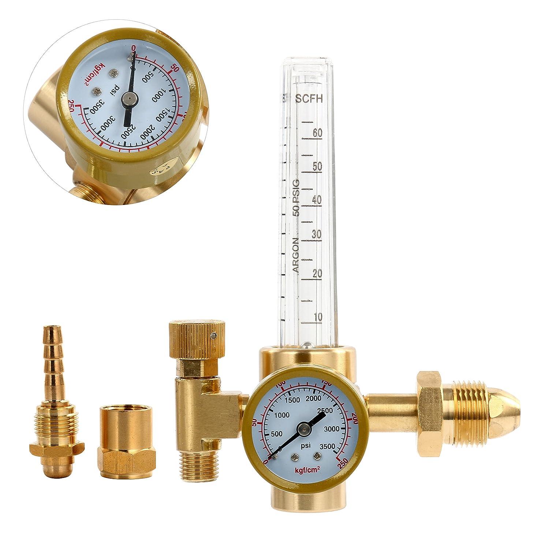 YaeTek Argon CO2 Mig Tig Flow meter Welding Weld Regulator Gauge Gas Welder CGA-580 Yaemart Corportation