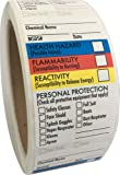 """SDS Stickers / MSDS Stickers, 250 Adhesive Labels, 1.5""""x2.5"""", Right to Know - Chemical Identifying and Marking"""
