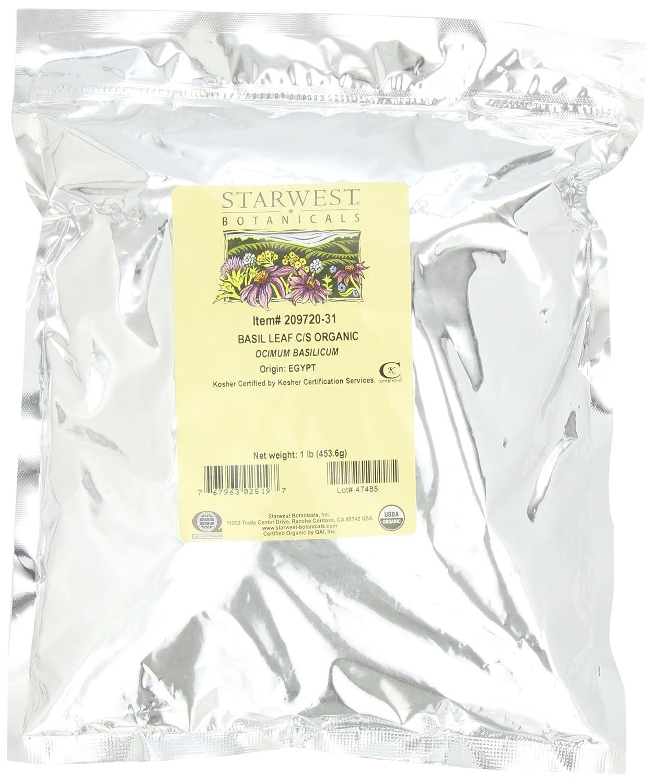 Starwest Botanicals Organic Basil Cut, 1-pound Bag
