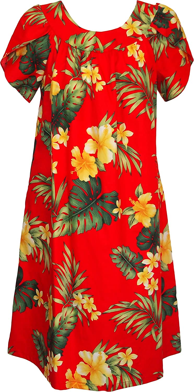 RJC Women's Tropical Summer Hibiscus Muumuu Dress