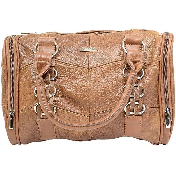 35d6da0118a5 NEW DESIGNER LORENZ LARGE LADIES COWHIDE LEATHER WEEKEND SHOULDER HAND BAG  CAMEL