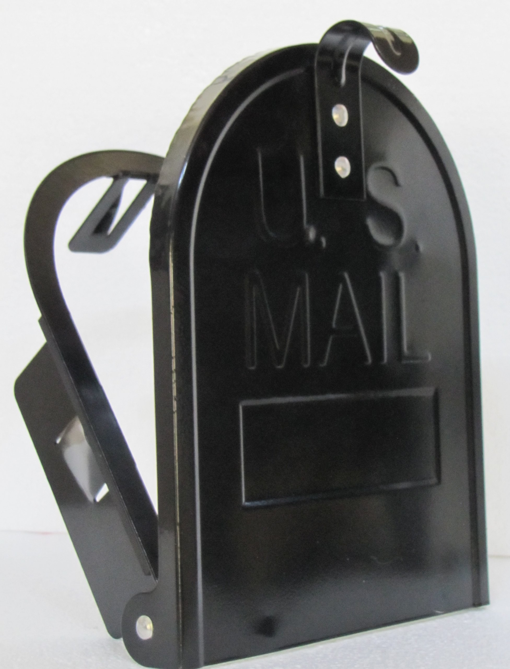 6 1/4 Inch (Width) by 8 Inch (Height) RetroFit ''Snap-In'' Mailbox Door Replacement - Black