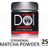 DoMatcha - Ceremonial Matcha Powder, Natural Source of Antioxidants, Caffeine, and L-Theanine, Promotes Focus and Relaxation, 25 Servings (1 oz)