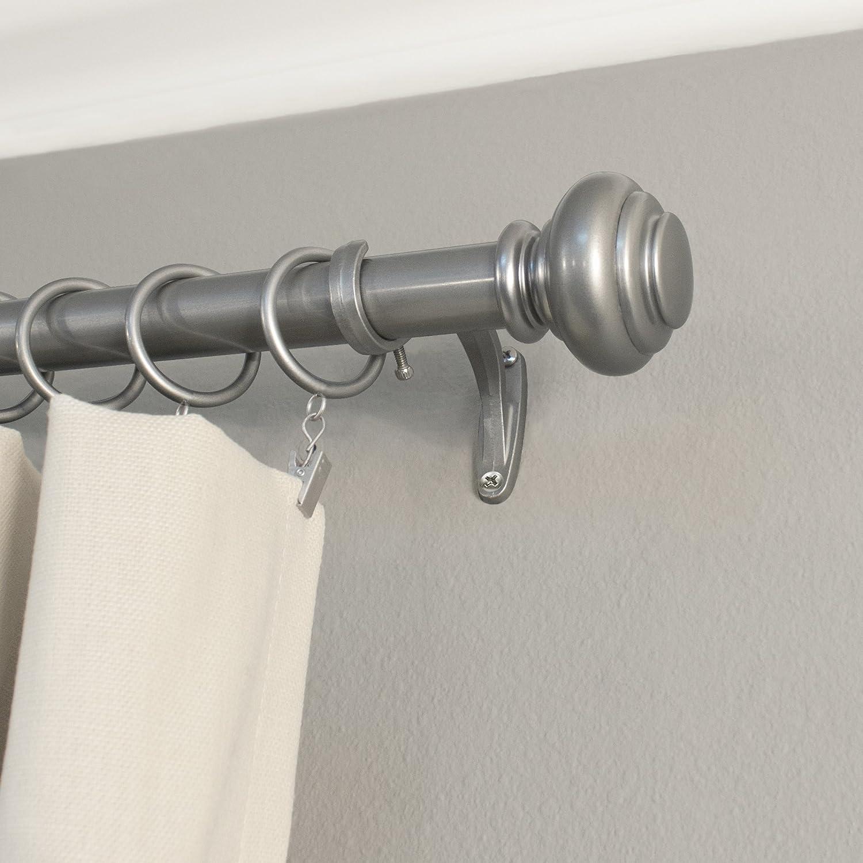 Decopolitan 1 Inch Urn Single Window Treatment Rod Set 72 To 144 Inch Antique Silver Amazon Co Uk Kitchen Home