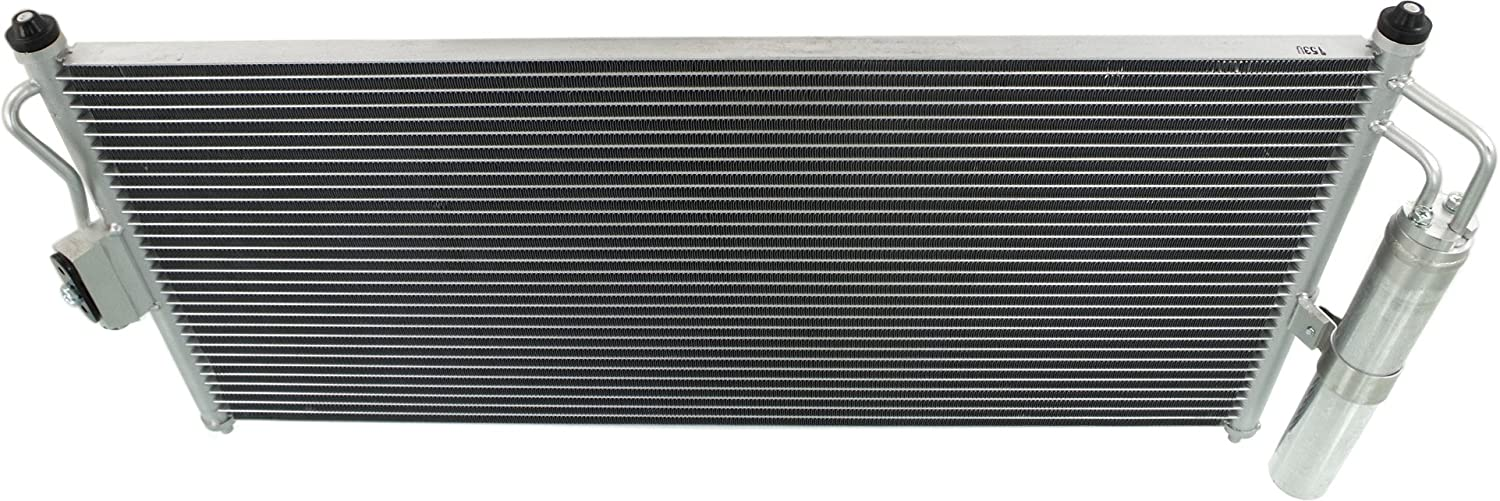 A//C Condenser Compatible with 2002-2006 Nissan Sentra Aluminum Core With Receiver Drier