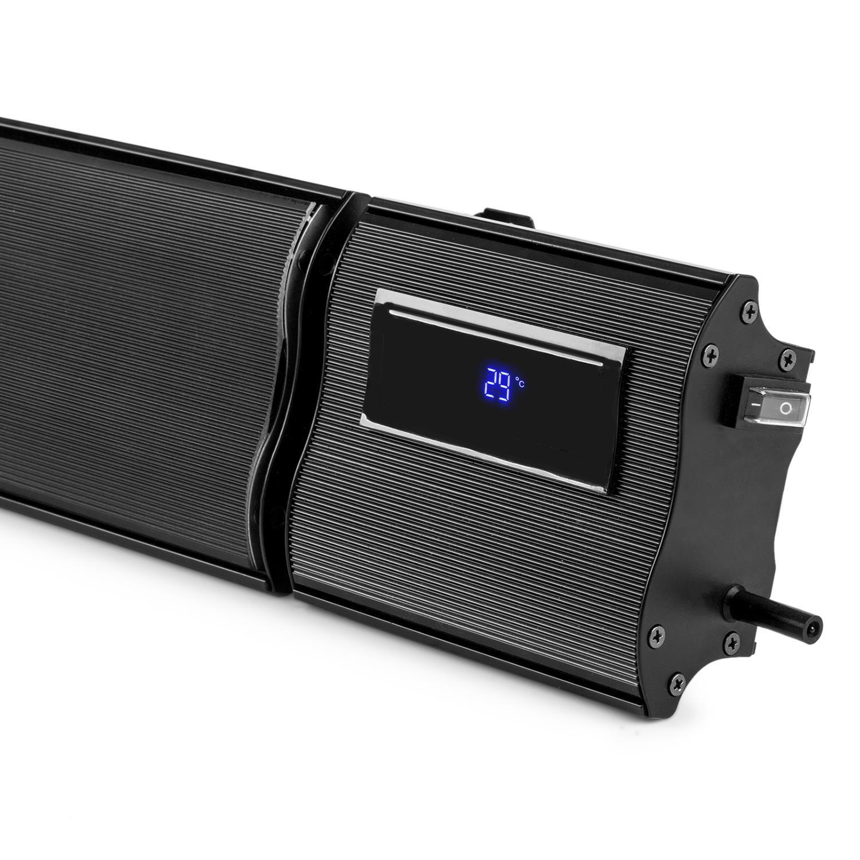 Blumfeldt CosmicBeam Plus • Radiador infrarrojo • Calefactor de Exteriores • Estufa • 2400 W • Sistema de protección IP24 • Mando a Distancia • Material de ...