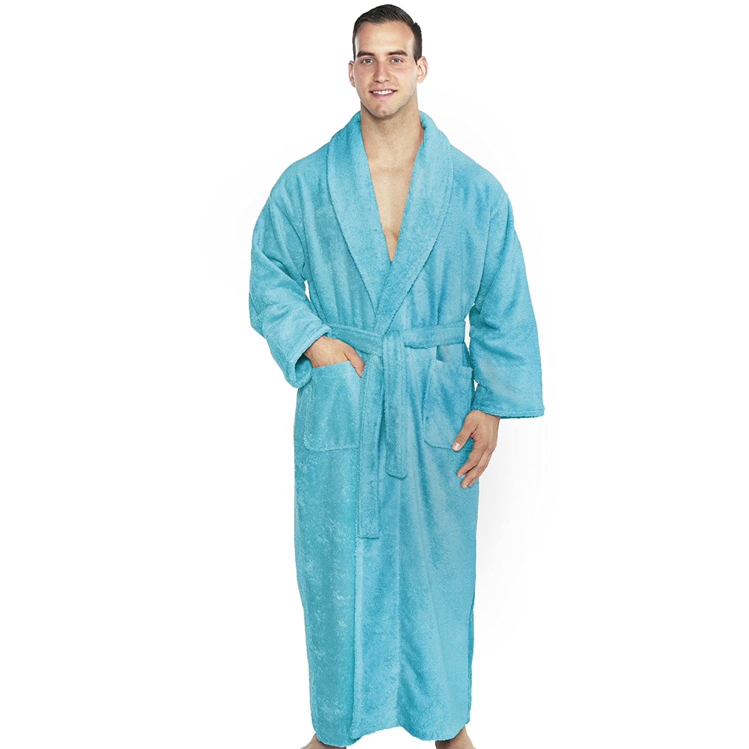 d3b39f5344 TurkishTowels Mens and Womens Original Terry Shawl Turkish Bathrobe at  Amazon Men s Clothing store