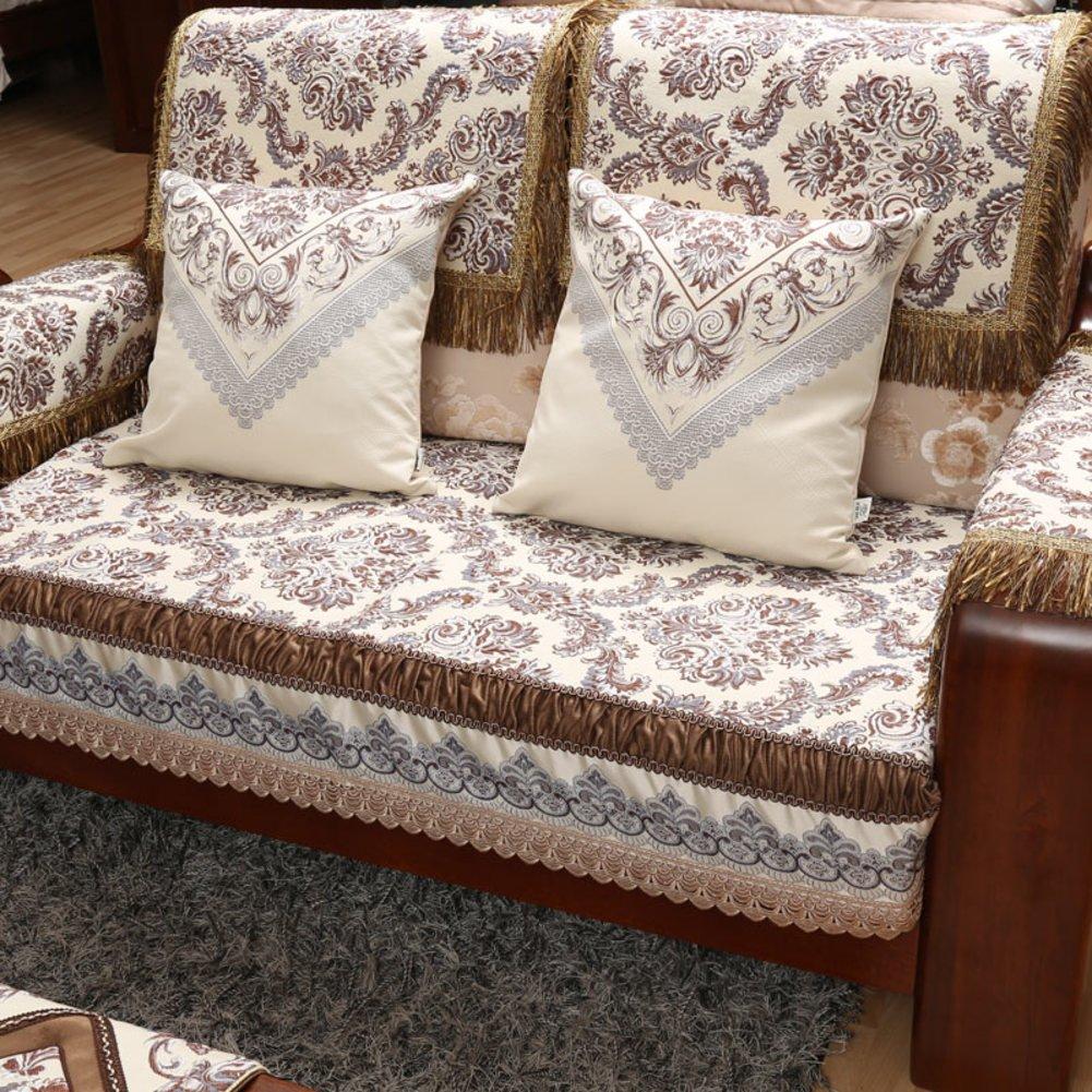 DHWJ Chinese Solid Wood Sofa Cushions Seasons Slip Continental sat mat-C