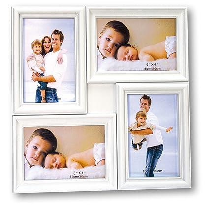 ZEP Malaga Portafotos múltiple, Blanco, 33x33x2.5 cm
