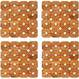 HOKIPO® Square Bamboo Coaster Heat Pad, Pan Pot Holder, 15 x 15 cm, 4 Piece Set