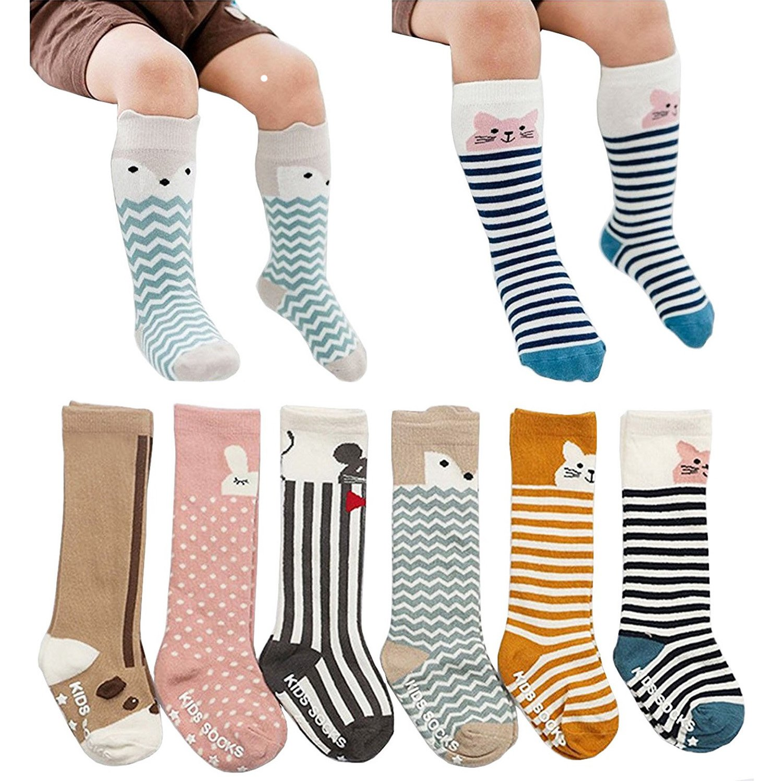 82734d7572e Amazon.com  6 Pairs Toddler Socks