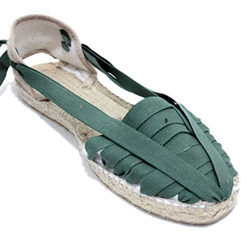 Alpargata Diseño Pintxo o Siete Vetas Verde Oscuro: Amazon.es: Zapatos y complementos