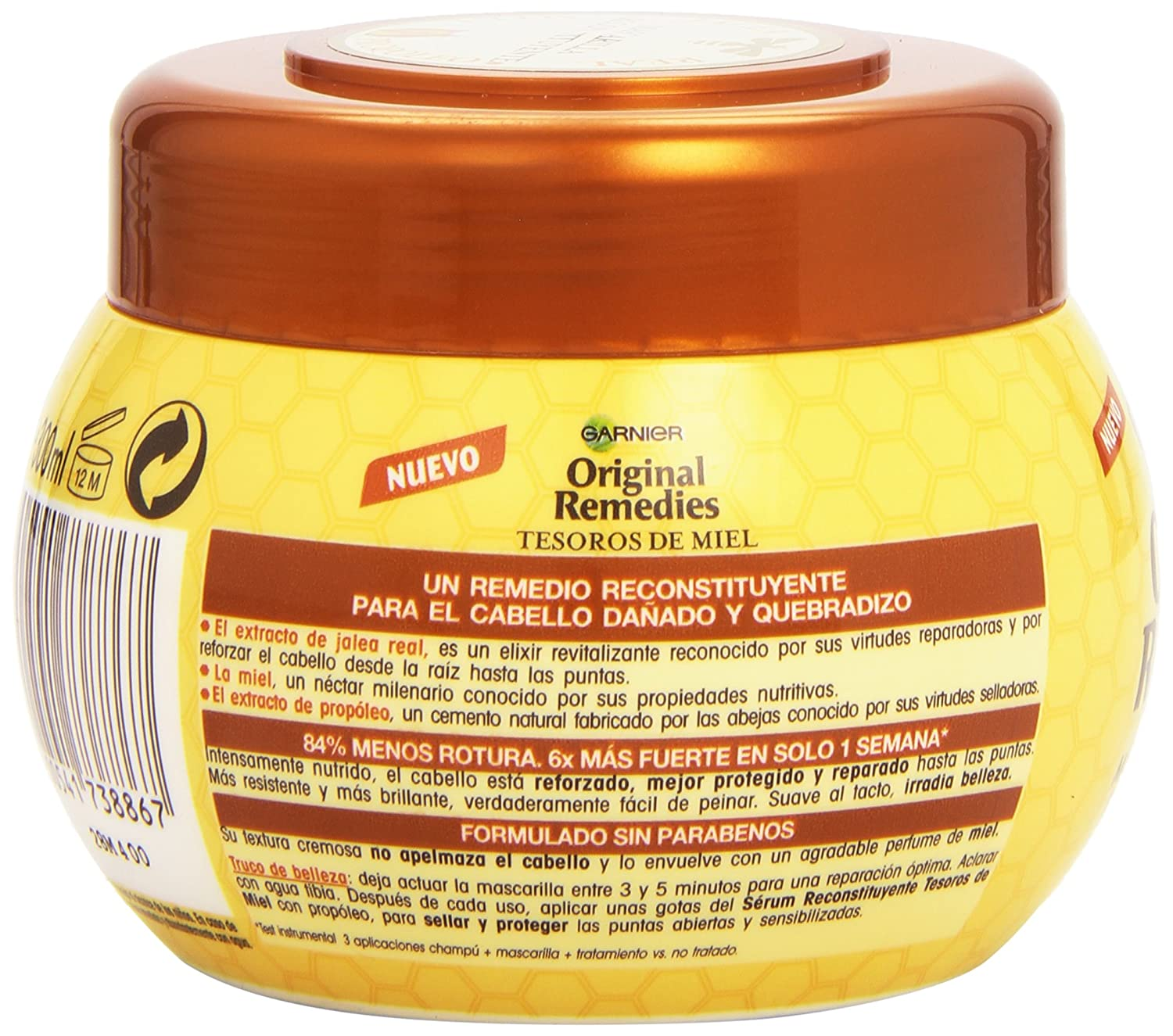 Garnier Original Remedies Mascarilla Tesoros Miel - 300 ml: Amazon.es: Amazon Pantry