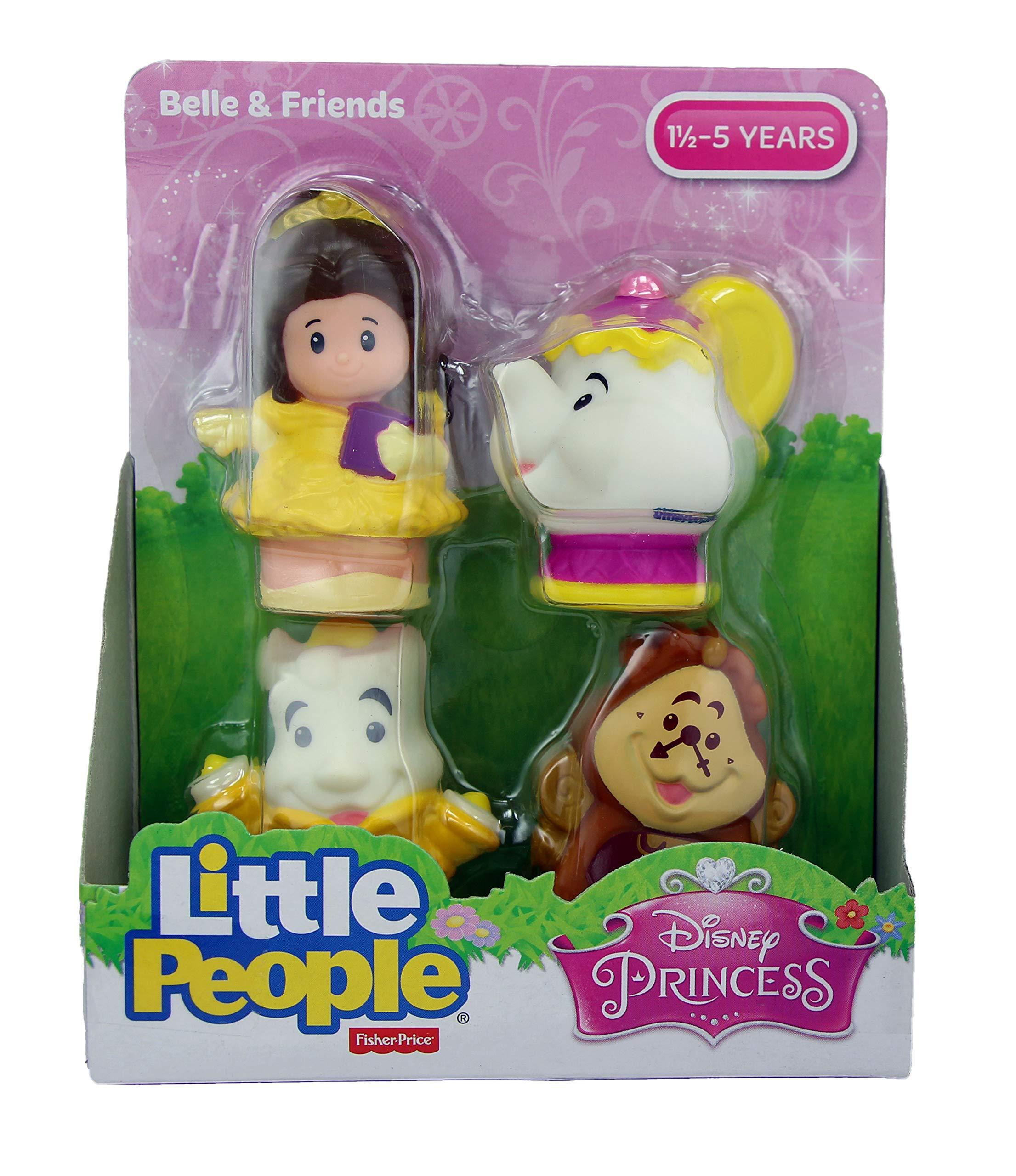 Fisher Price Little People Disney Princess & Friends Figure Set of 4 - Belle, Cinderella, Jasmin & Rapunzel by Disney Princess (Image #2)