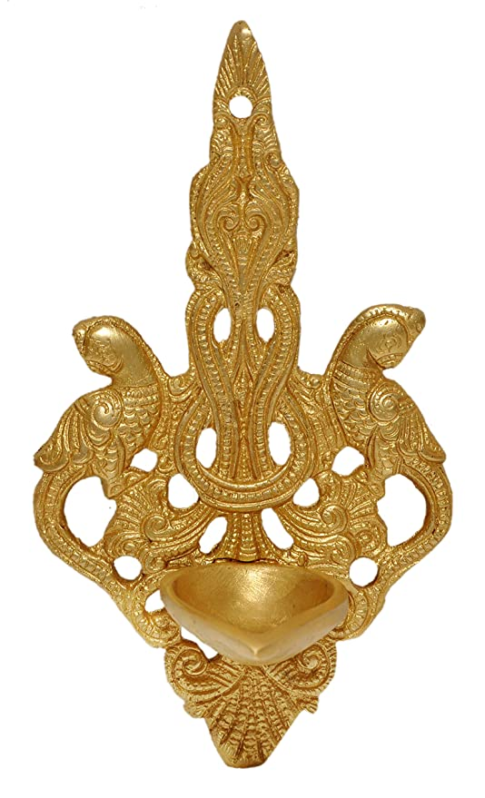 Amazon.com: Wall Hanging Brass Diya,Decorative art use for home ...