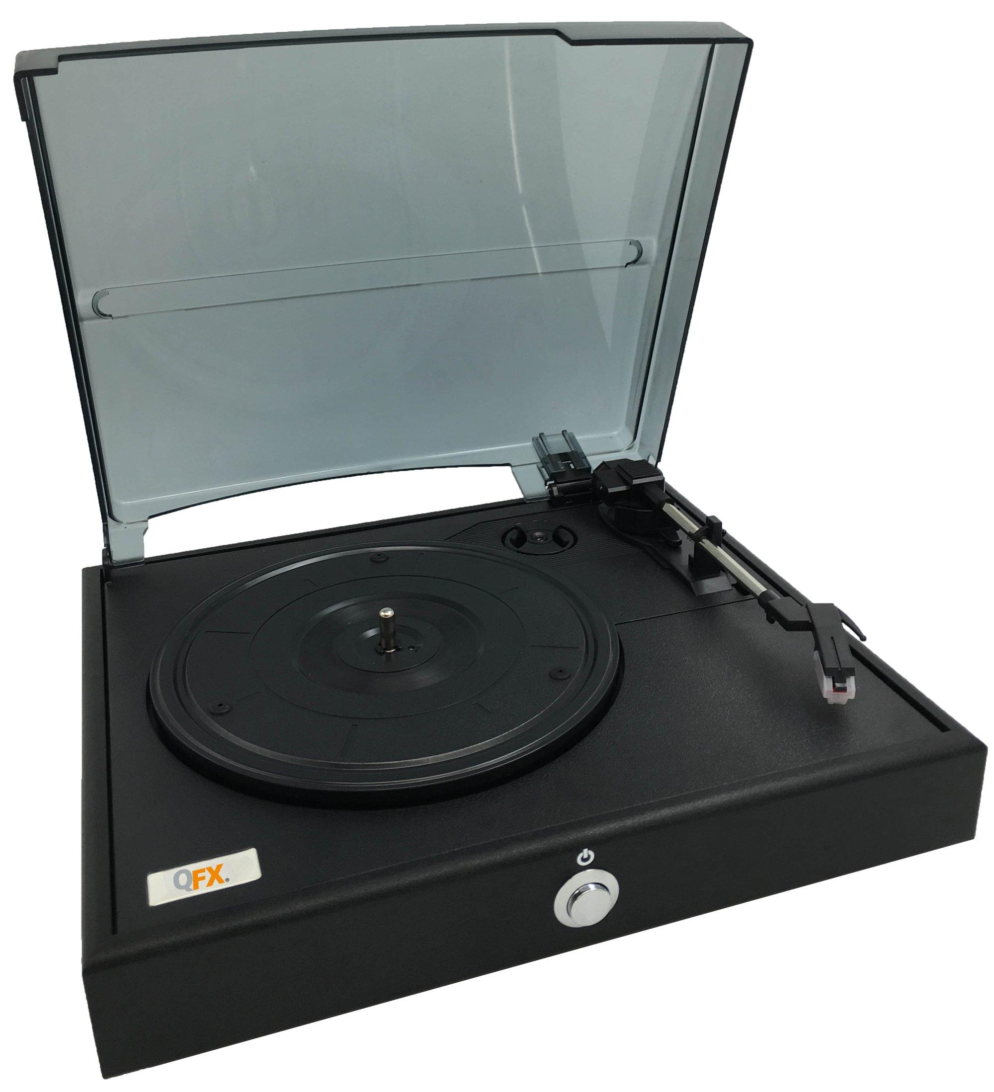 QFX Retro Turntable,Black (TURN-80) by QFX