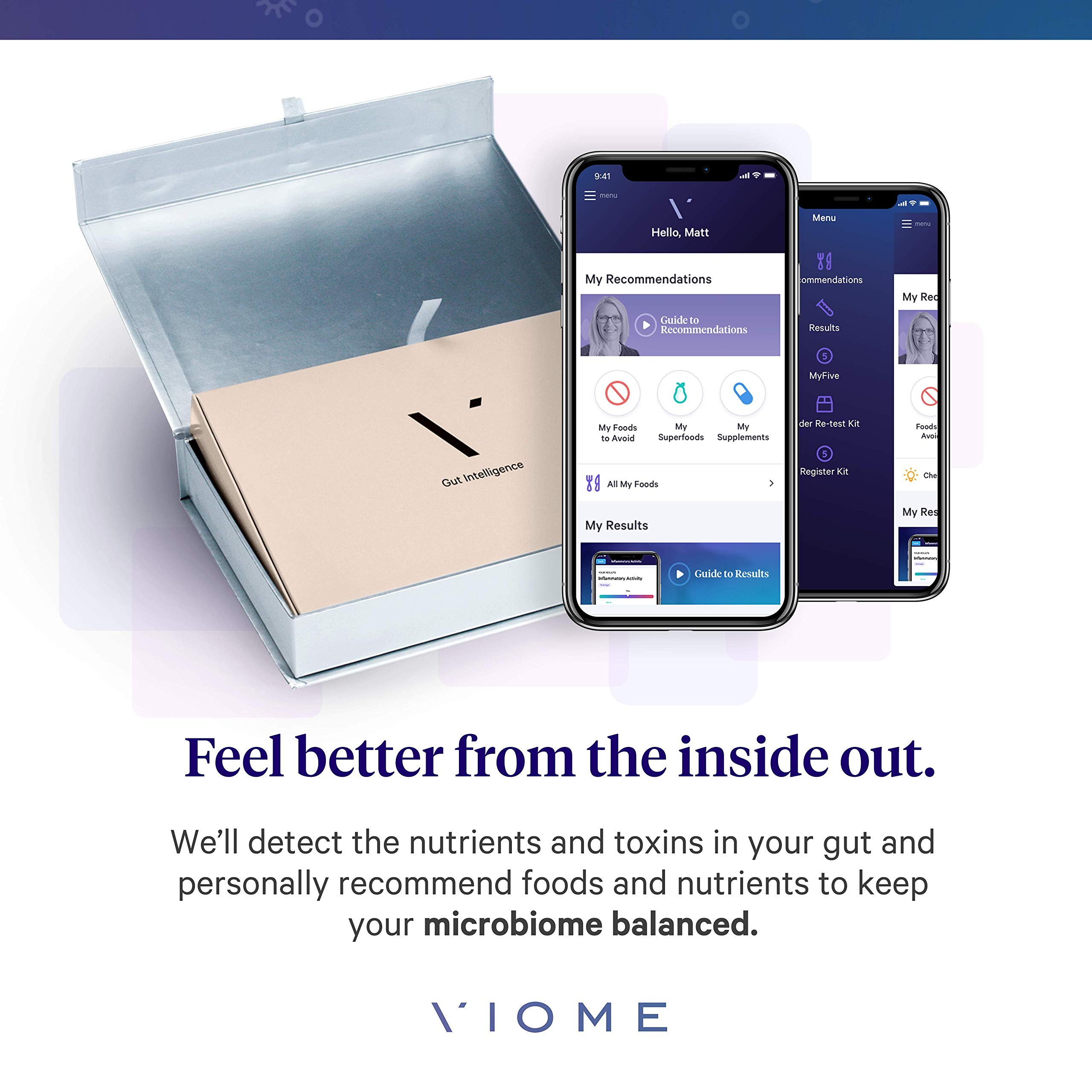 Viome at-Home Gut Microbiome Test   Science Based Personalized Recommendations for Food, Prebiotics & Probiotics   Weight Loss   Improve Digestion   Enhance Sleep   Clear Skin   Boost Mental Focus by Viome (Image #2)