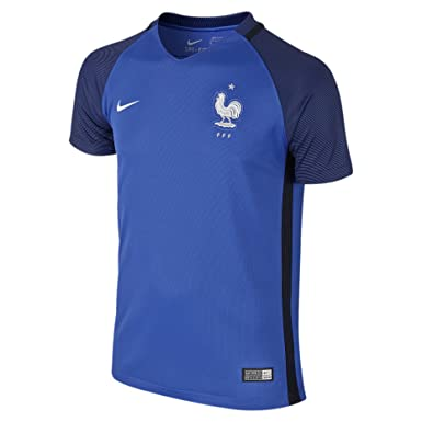Amazon: Nike Kid's France Home Stadium Soccer Jersey Blue: Clothing
