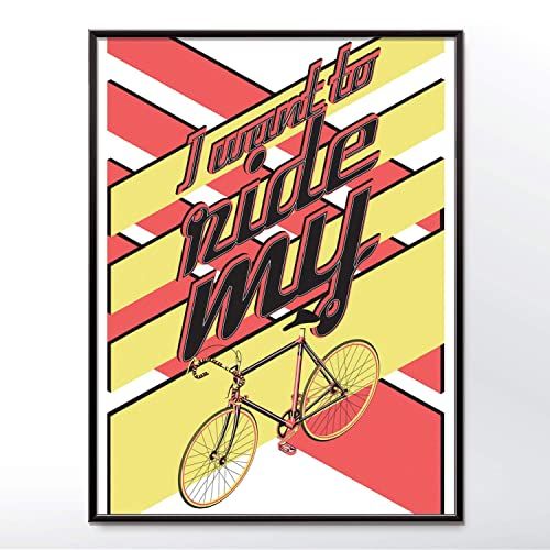 Amazon Com I Want To Ride My Bicycle Poster Handmade