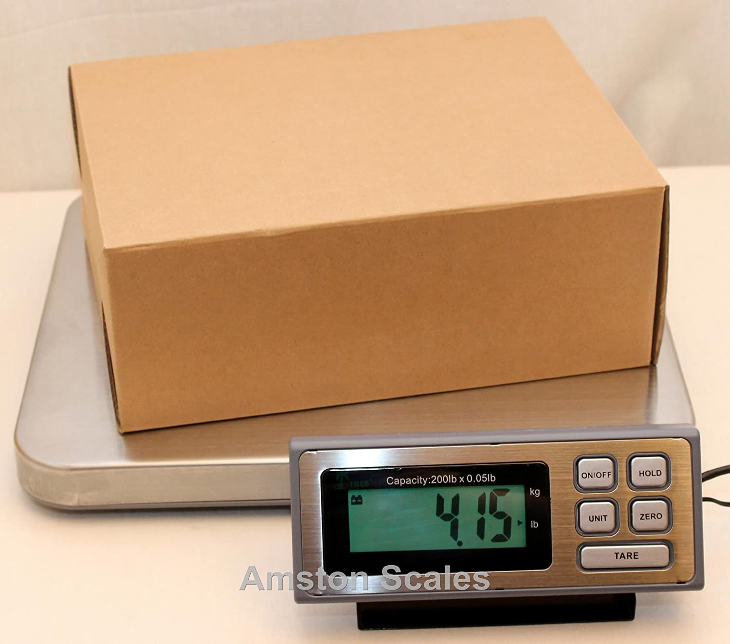 200 lb x 0.05 lb Large Shipping Scale 16x14 Platform Postal Scale Mail Scale