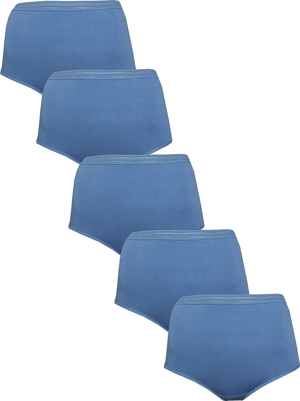 EX M/&S Ladies New Teal Blue Modal Cotton Blend No VPL Bikini Knickers