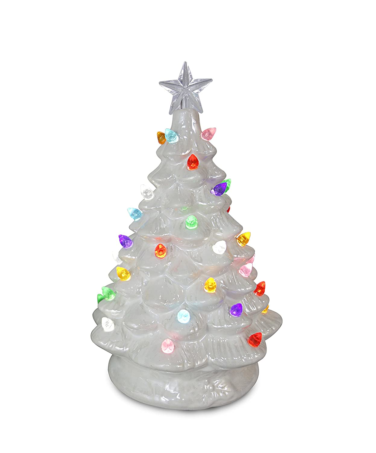 ReLive Christmas is Forever Lighted Tabletop Ceramic Tree (Christmas Cactus/Multi Color Lights, 11-Inch) Opportunities Inc