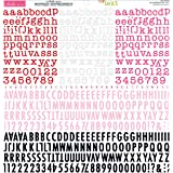 "Tiny Text Cardstock Alphabet Stickers 12""X12""-Wild Berries"