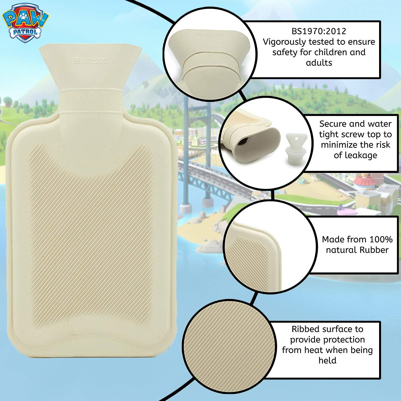 Skye Paw Patrol Hot Water Bottle Kids 1L 100/% Natural Rubber Plush Peluche Skye Chase
