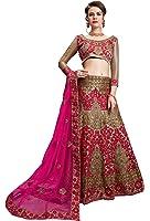 Aasvaa Amazing Women's Lehenga Choli With Un-Stitched Blouse (MIBB108_Gold_Free Size)