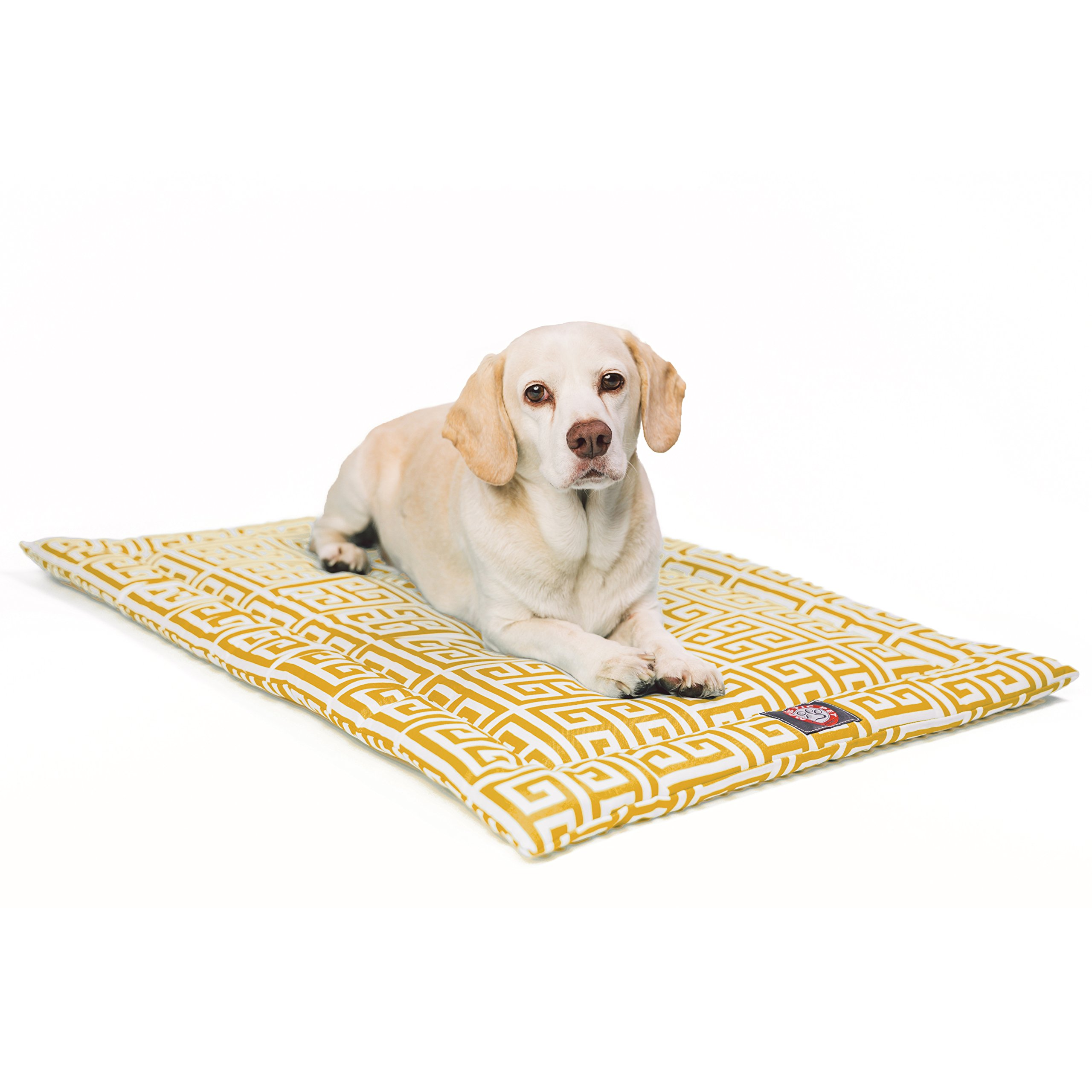 42''  Towers Citrus Yellow Crate Dog Bed Mat By Majestic Pet Products