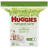 [ハギーズ]Huggies Natural Care Wipes 184枚と携帯用ワイプケース/おしりふき16枚入 付き [海外配送]