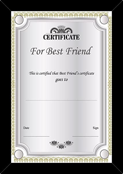100yellow gift certificate unique greeting cards certificates of