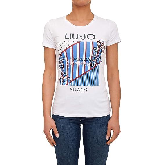 detailed look 902da c06bd Liu-Jo T-Shirt Donna MOD. F19314J5003 Bianco